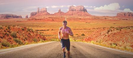 Runner on Monument Valley
