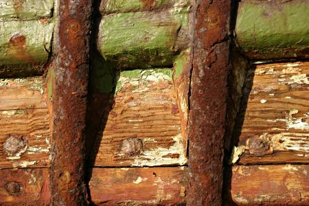 Rusted metal and old wood