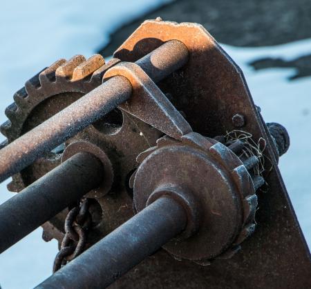 Rusty Winch in Winter