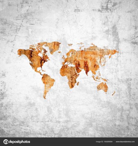 Rusty world map