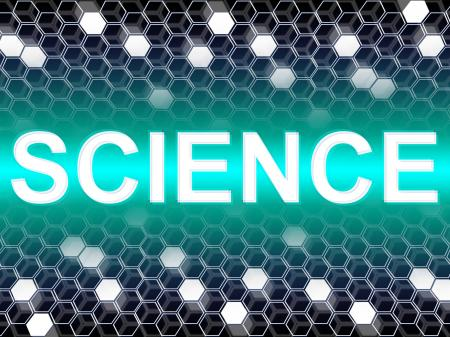 Science Word Shows Scientist Biology And Chemist