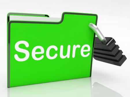 Secure File Indicates Business Organize And Protect
