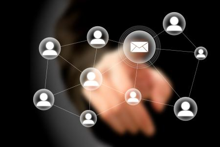 Sending a newsletter mail to your contacts - E-mail marketing concept