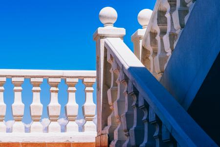 Shallow Focus Photography of White Hand Rails