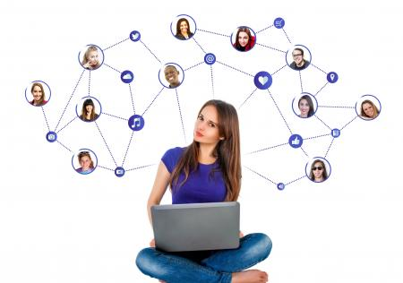 Sharing with Friends Through Social Media