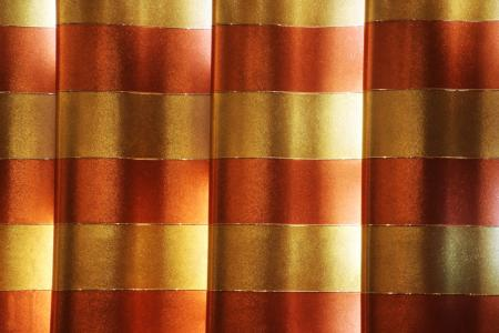 Shiny gold texture curtain