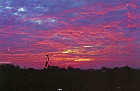 Shooting sunrise timelapse