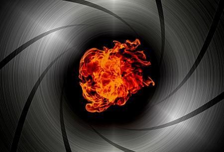 Shooting through the barrel of a gun - Flame burst