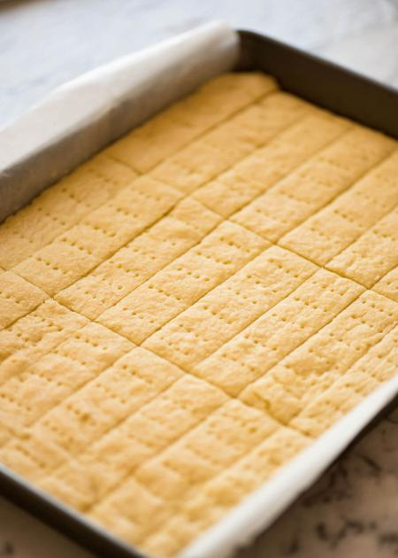 Shortbread biscuits baked