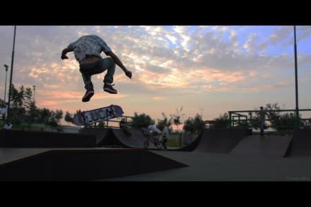 Skateboarding at Sunset
