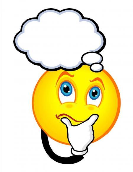 Smiley thinking