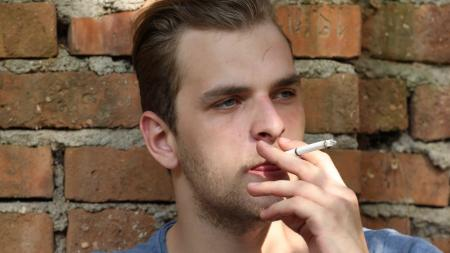 smoking person