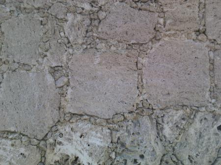 Smooth stone slab placed face concrete