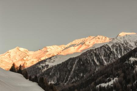 Snow Capped Mountain Shined by the Sun