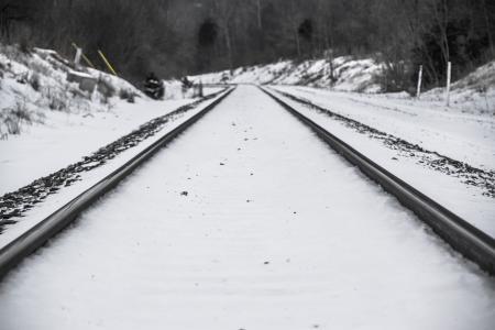 Snow on tracks
