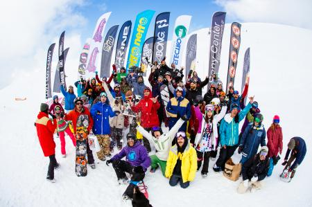 Snowboard contest