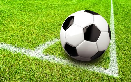 Soccer - Football - Ball in the Corner of the Pitch