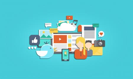 Social Media and Social Marketing - Illustration