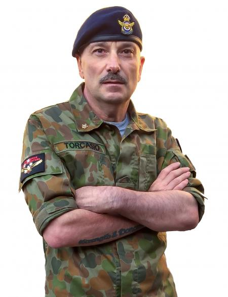 Soldier : Wearing Disruptive Pattern Camouflage Uniform and Beret Royal Australian Air Force