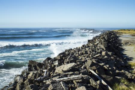South Jetty, mouth of the Columbia River, Oregon