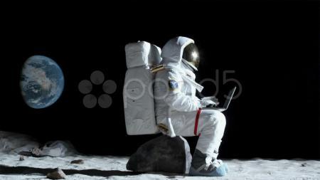 Space Man Sitting