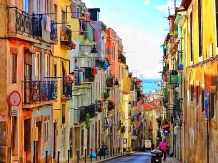 Spanish colorful street