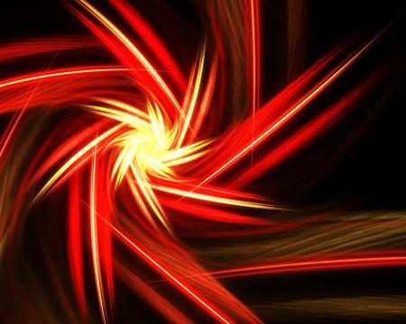 Spinning light burst