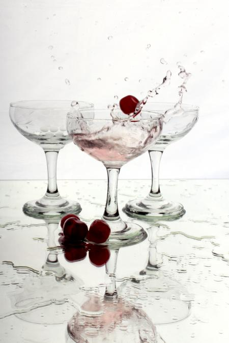 Splashing berries