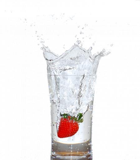 Splashing drink