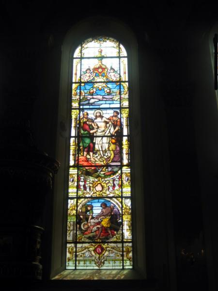 Stained Glass in Church Window