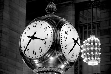 Stainless Steel Post Clock at 3:43