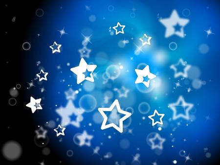 Stars Background Means Light Burst And Dazzling