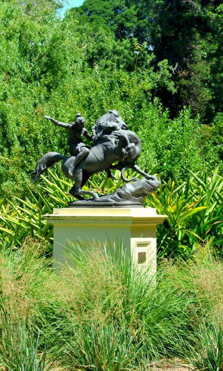 Statue in the garden