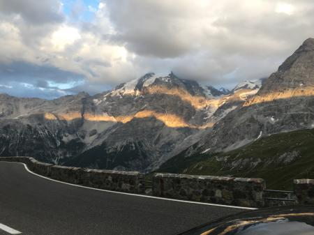 Stelvio Pass Sunset Alpine glow