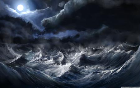 Stormy seas