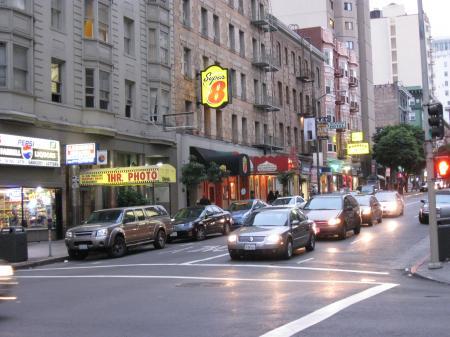 Street in Tenderloin District in San Francisco