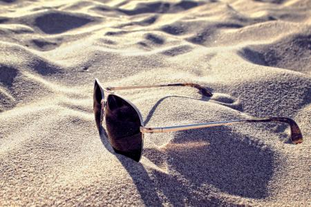 Sunglasses on the Sand - Summer Concept