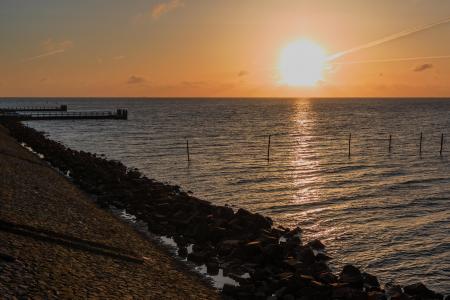 Sunrise at Afsluitdijk