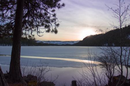 Sunset at Suttle Lake, Oregon