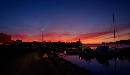 Sunset, Bodø Havn Jan 15