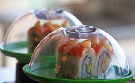 Sushi dish on the plate