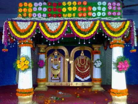 Temple Flower Decoration