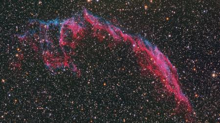 The Eastern Veil Nebula part of the Cygnus Loop