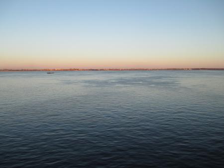 The Volga River at Sunset in April