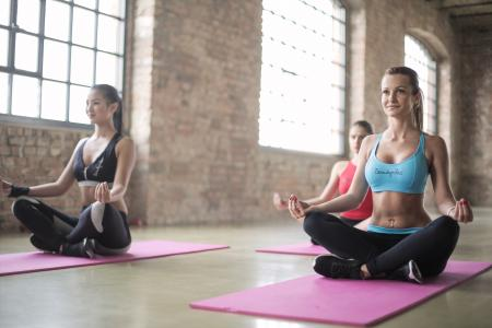 There Women in a Yoga Session