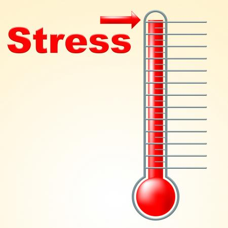 Thermometer Stress Means Tension Celsius And Thermostat