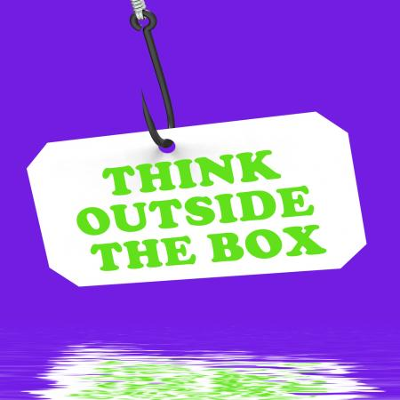Think Outside The Box On Hook Displays Imagination And Creativity