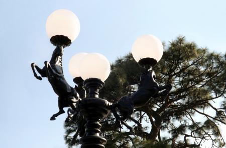 Three Horses Lamp Post