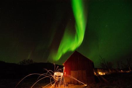 Time Lapse Photo of Aurora Borealis