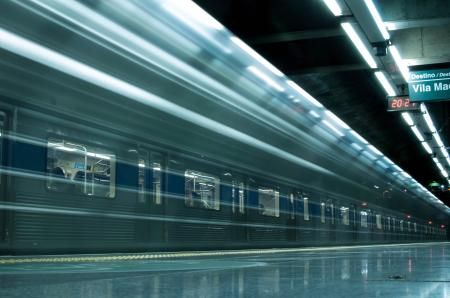 Time Lapse Photography Of Train In Train Station